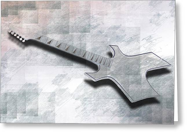 Digital-art E-guitar IIi Greeting Card by Melanie Viola