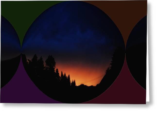 Digital Nightlight Greeting Card by Don Mann