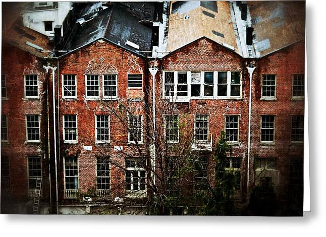 Greeting Card featuring the photograph Dilapidated Building On Poydras Street by Jim Albritton