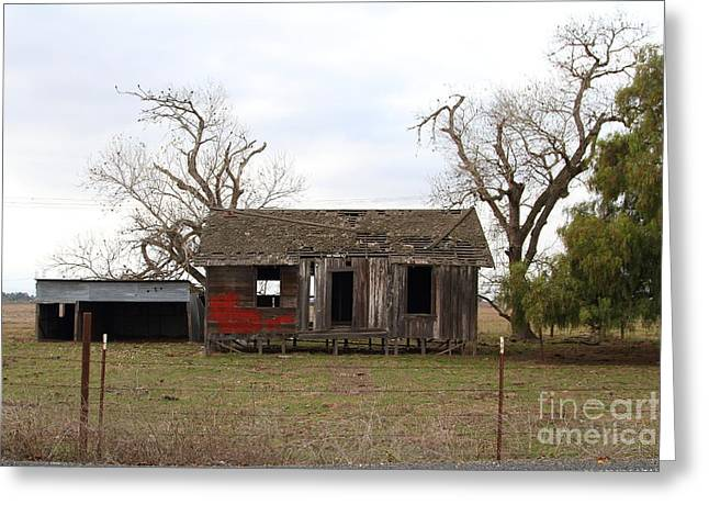 Dilapidated Old Farm House . 7d10341 Greeting Card