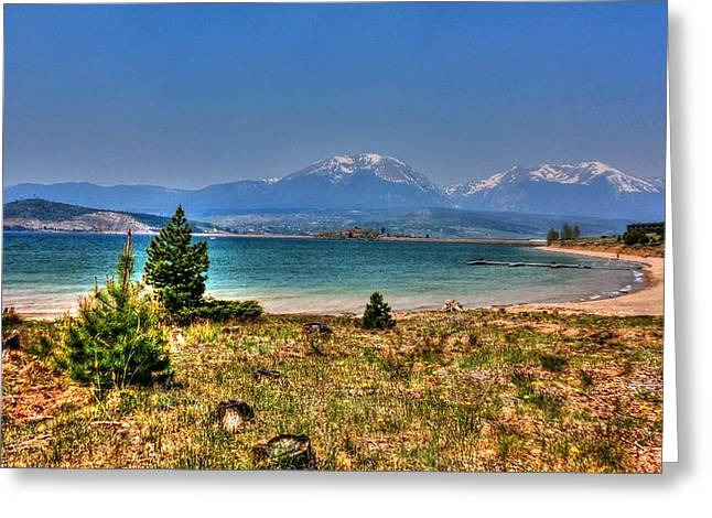 Dillon Lake Greeting Card by Sergio Aguayo