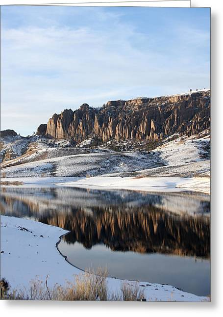 Greeting Card featuring the photograph Dillon Pinnacles  by Marta Alfred