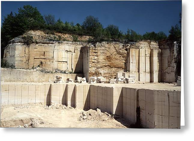 Dimension Stone Quarry Greeting Card