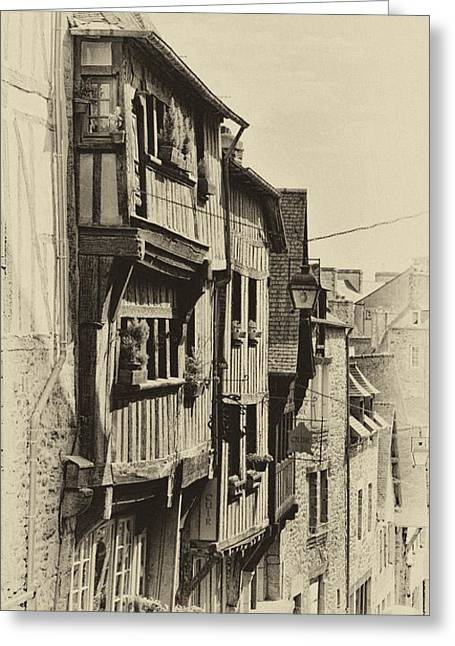 Greeting Card featuring the photograph Dinan Antique I by Jack Torcello