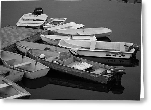 Dinghies Greeting Card by David Rucker
