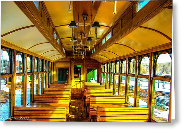 Greeting Card featuring the photograph Dining Car by Shannon Harrington