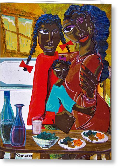 Dinner With Mom Greeting Card by Kevin McDowell