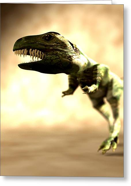 Dinosaur Cloning, Computer Artwork Greeting Card