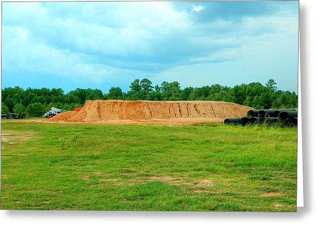 Dirt Hill  Greeting Card by Ester  Rogers