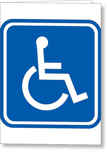 Disability Sign, Computer Artwork Greeting Card by