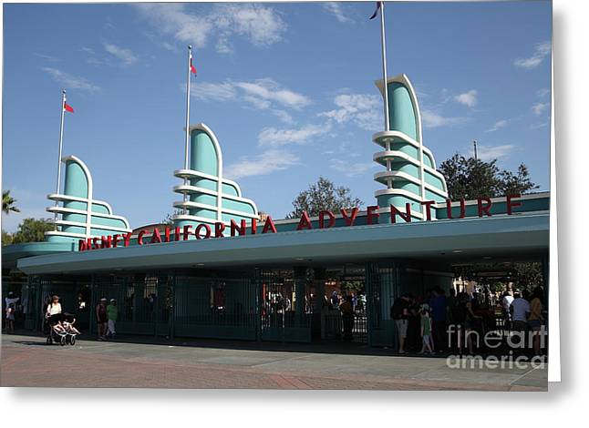Disney California Adventure - Anaheim California - 5d17521 Greeting Card by Wingsdomain Art and Photography