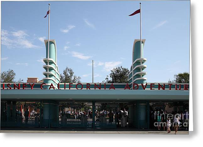 Disney California Adventure - Anaheim California - 5d17522 Greeting Card by Wingsdomain Art and Photography