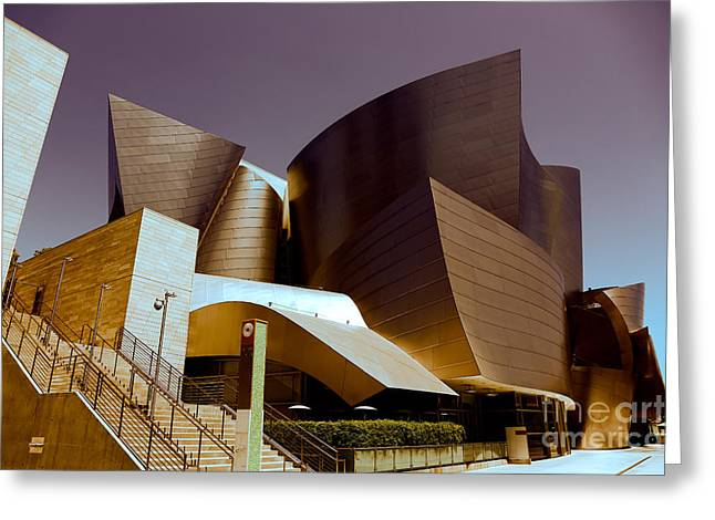Disney Music Hall I Greeting Card by Chuck Kuhn