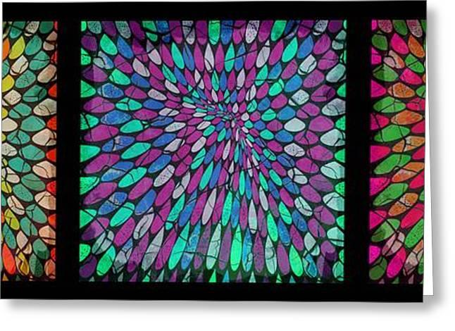 Disperse Color Tones Greeting Card by Ankeeta Bansal