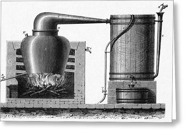 Distillation Apparatus, 18th Century Greeting Card by Cci Archives
