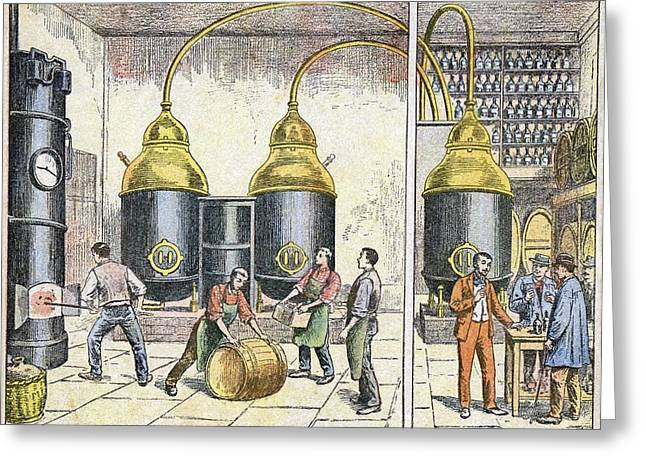 Distillery, 19th Century Greeting Card by Cci Archives