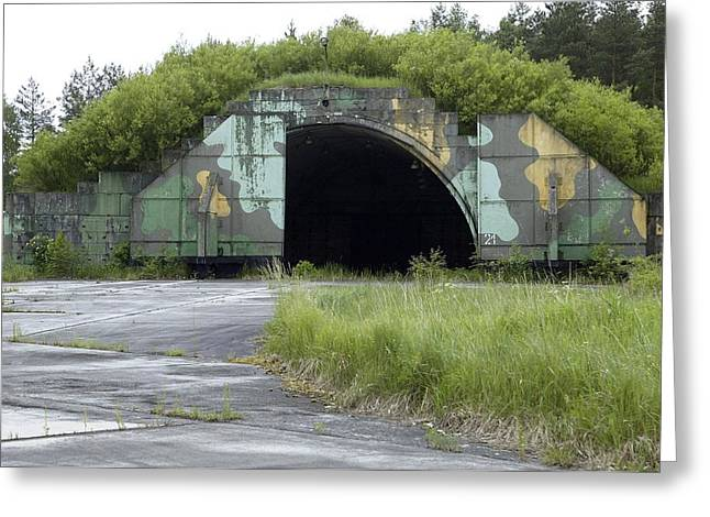 Disused Hardened Aircraft Shelter Greeting Card by Ria Novosti