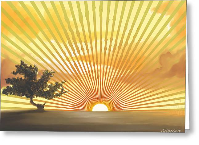 Diva's Sunset Greeting Card