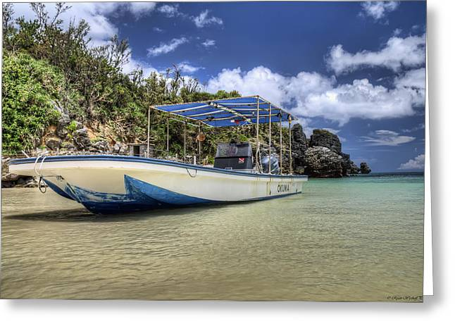 Dive Boat Greeting Card by Ryan Wyckoff