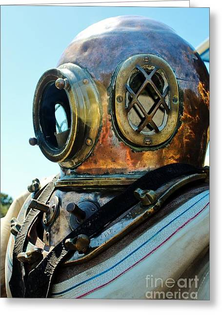 Dive Helmet Greeting Card by Rene Triay Photography