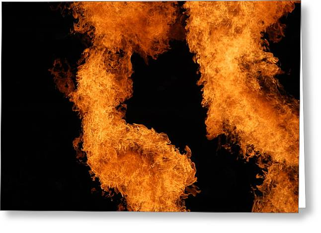 Divine Fire Greeting Card by Michelle Visconti