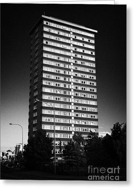 d311419892 Divis Flats Tower Greeting Card by Joe Fox