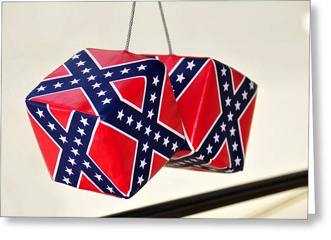 Dixie Dice Greeting Card by David Lee Thompson