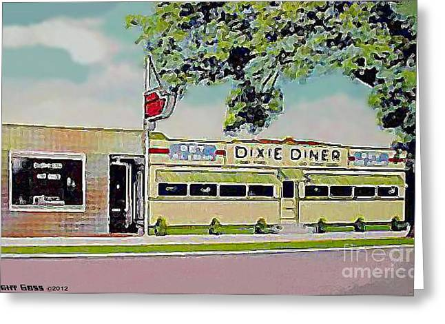 Dixie Diner In Fayetteville N C Greeting Card