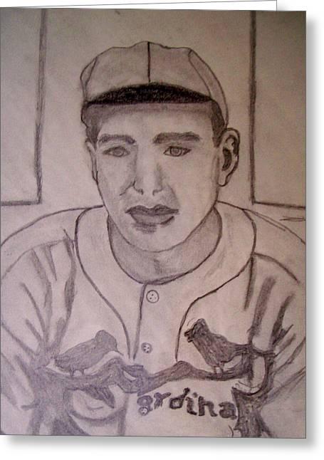 Dizzy Dean Cardinals Pitcher Greeting Card by De Beall