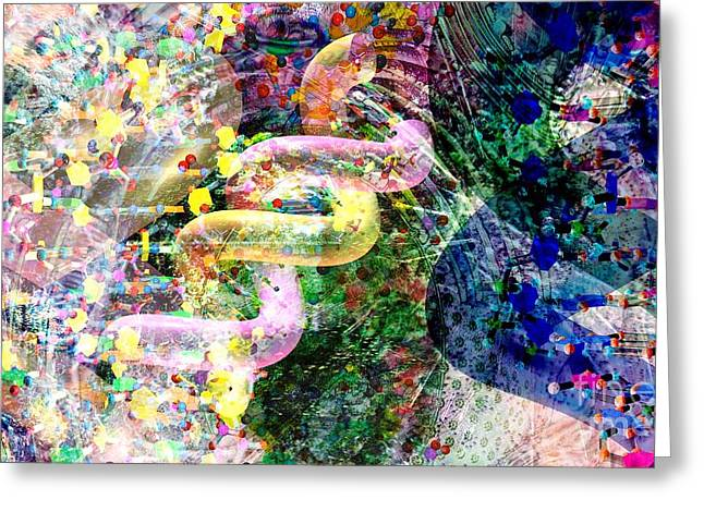 Dna Dreaming 2 Greeting Card