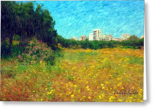 Greeting Card featuring the photograph Do-00479 Bois Des Pins - Impressionist by Digital Oil