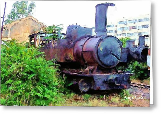 Greeting Card featuring the photograph Do-00504 Train In Mar Mickael by Digital Oil