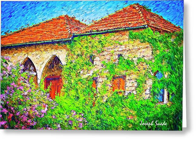Greeting Card featuring the photograph Do-00530 Old House by Digital Oil