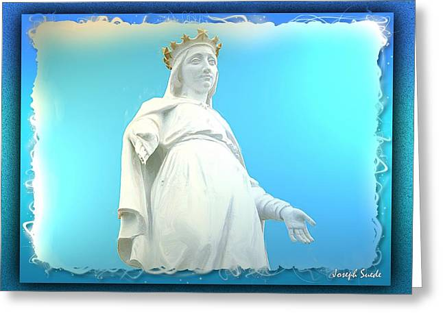 Do-00531 Our Lady Of Lebanon Greeting Card by Digital Oil