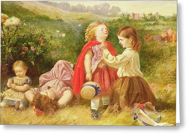 Do You Like Butter Greeting Card by Myles Birket Foster