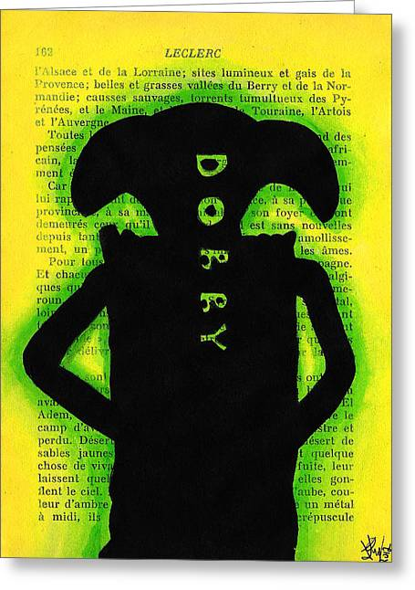 Dobby Silhouette Greeting Card