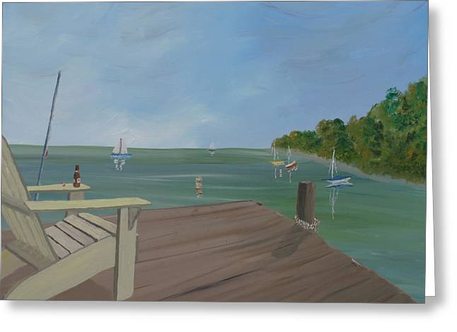 Dock Of The Bay Greeting Card by Scott Kugler