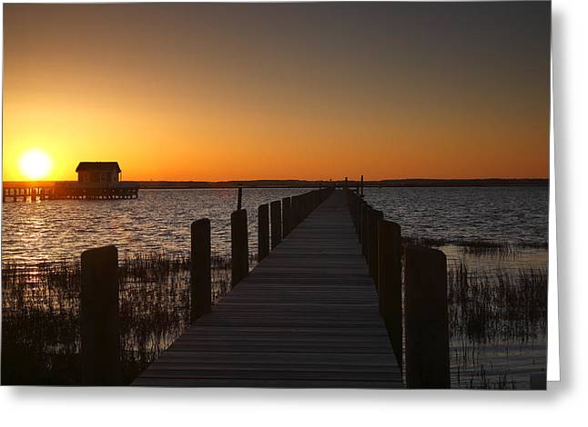 Dock On The Bay Greeting Card by Steven Ainsworth