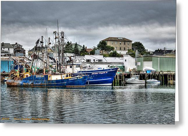 Docked For The Storms Greeting Card by Dan Crosby
