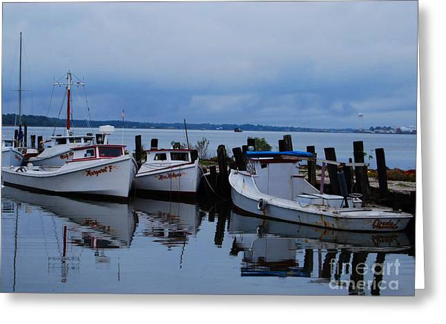 Greeting Card featuring the photograph Docked by Linda Mesibov