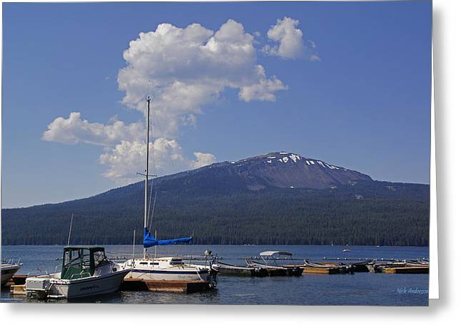 Greeting Card featuring the photograph Docks At Diamond Lake by Mick Anderson