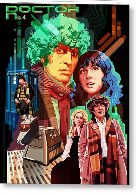 Doctor Who Number Seven Greeting Card