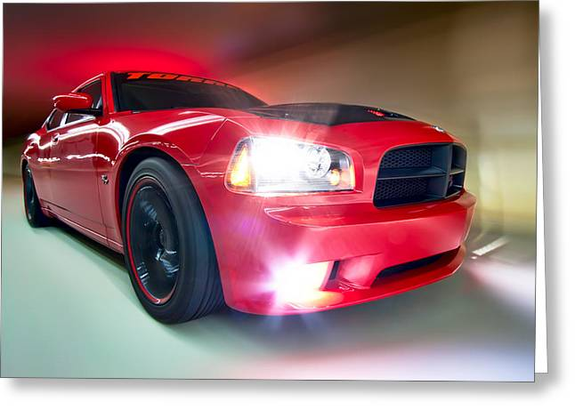 Greeting Card featuring the photograph Dodge Charger by Anna Rumiantseva