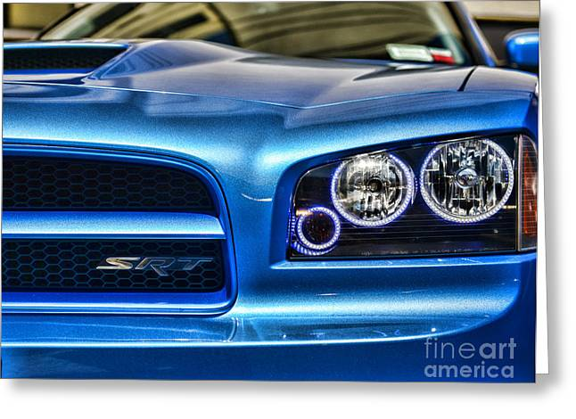 Dodge Charger Front Greeting Card by Paul Ward