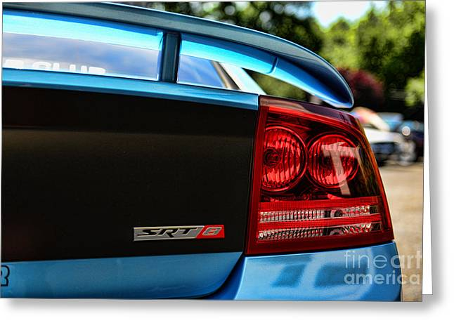 Dodge Charger Srt8 Rear Greeting Card by Paul Ward