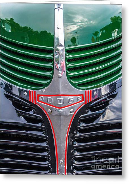 Dodge Grill Greeting Card by Ursula Lawrence