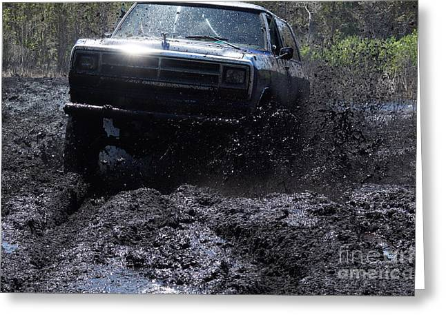Dodge Ramcharger In Local Mud Greeting Card by Lynda Dawson-Youngclaus