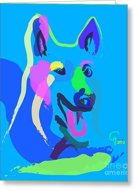 Dog - Colour Dog Greeting Card