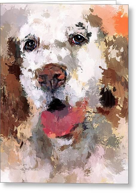 Dog Pet Greeting Card by Yury Malkov