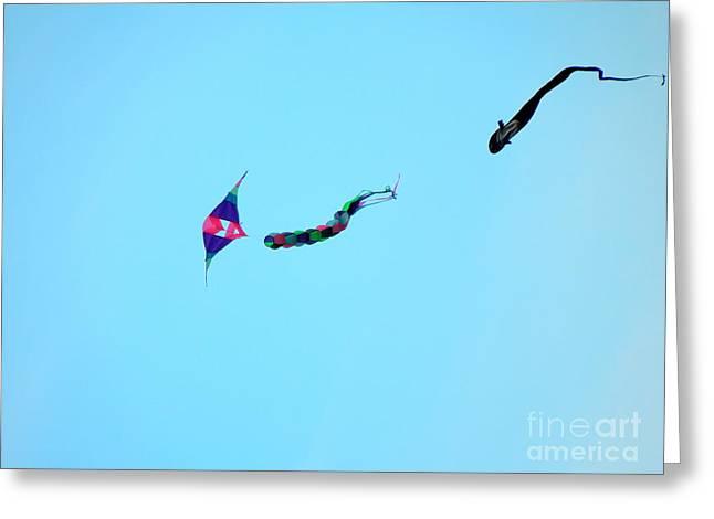 Dogfighting Kites Greeting Card